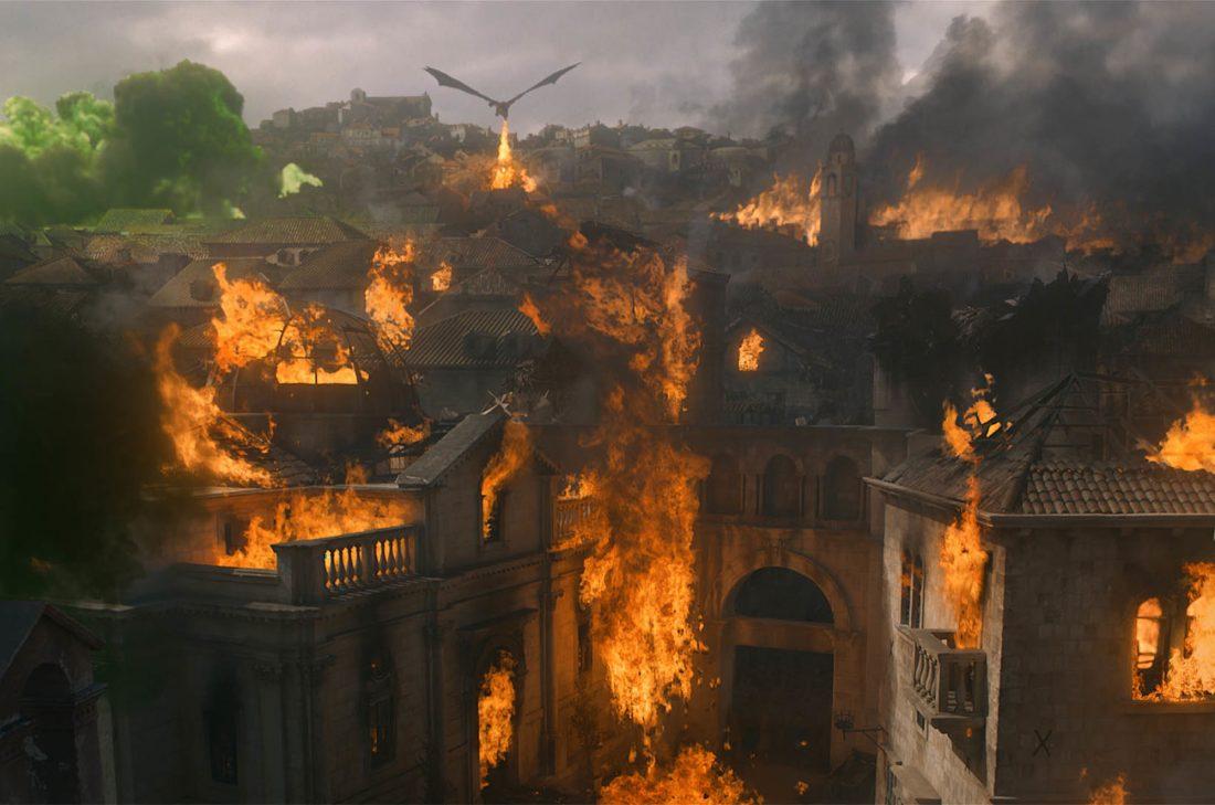 «Симпсоны» снова предсказали события «Игры Престолов». Дракон уничтожил Королевскую гавань!
