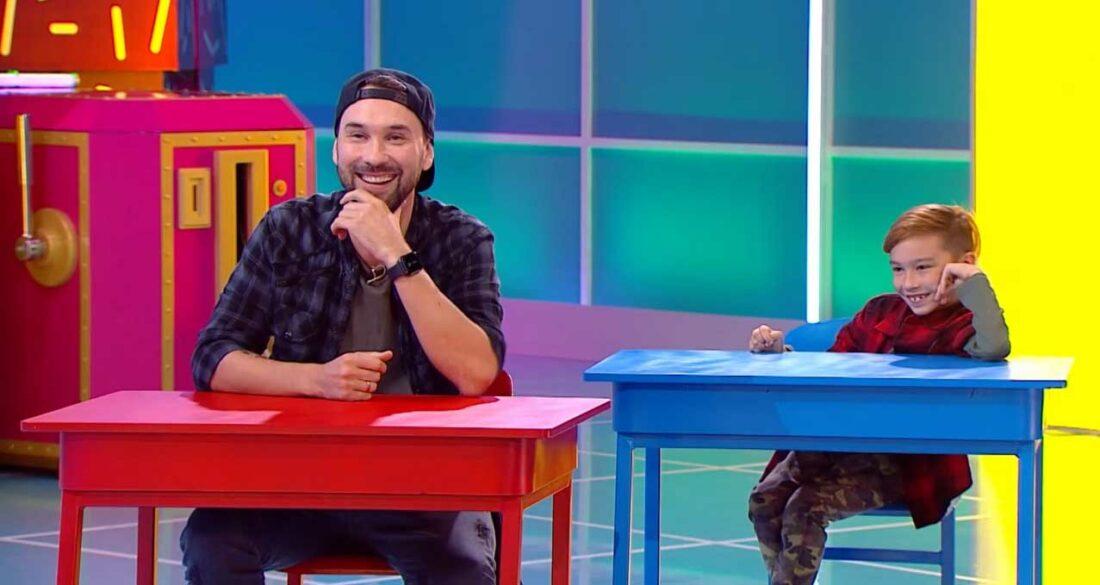 Андрей Шелков из USB с сыном