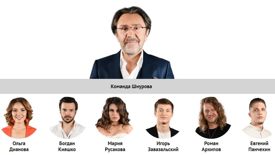 Состав команды Шнурова