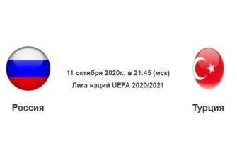 Футбол. России — Турции - эфир от 11.10.2020