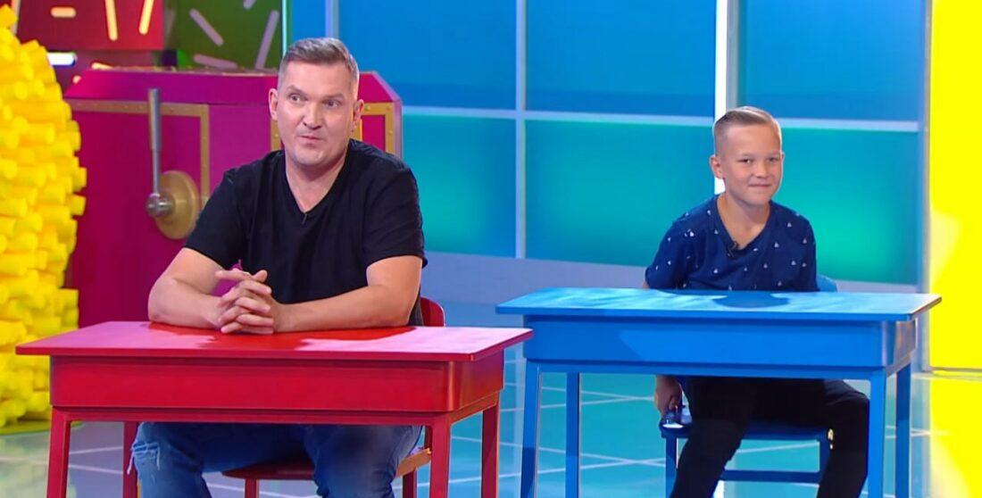Игорь Ознобихин и его сын Тимофей на шоу «Ты как я»