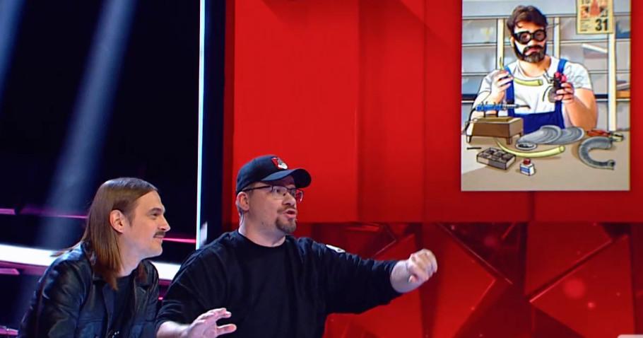 Илья Прусикин и Гарик Харламов в шоу Где логика