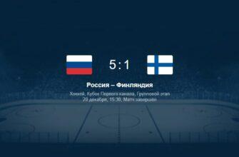 Хоккей. Кубок Первого канала. Россия — Финляндия от 20.12.2020