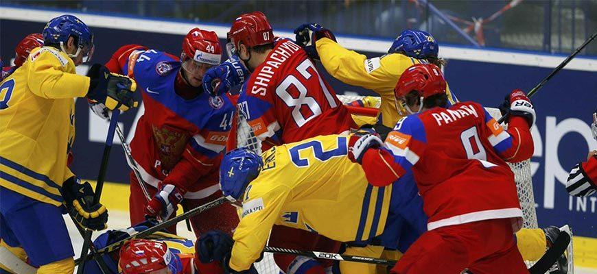 Хоккей Россия-Швеция