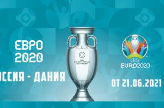 Футбол Россия - Дания 21.06.2021