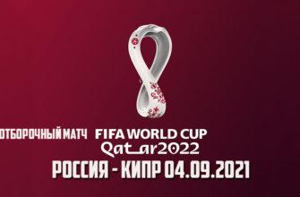 Футбол Россия - Кипр 04.09.2021